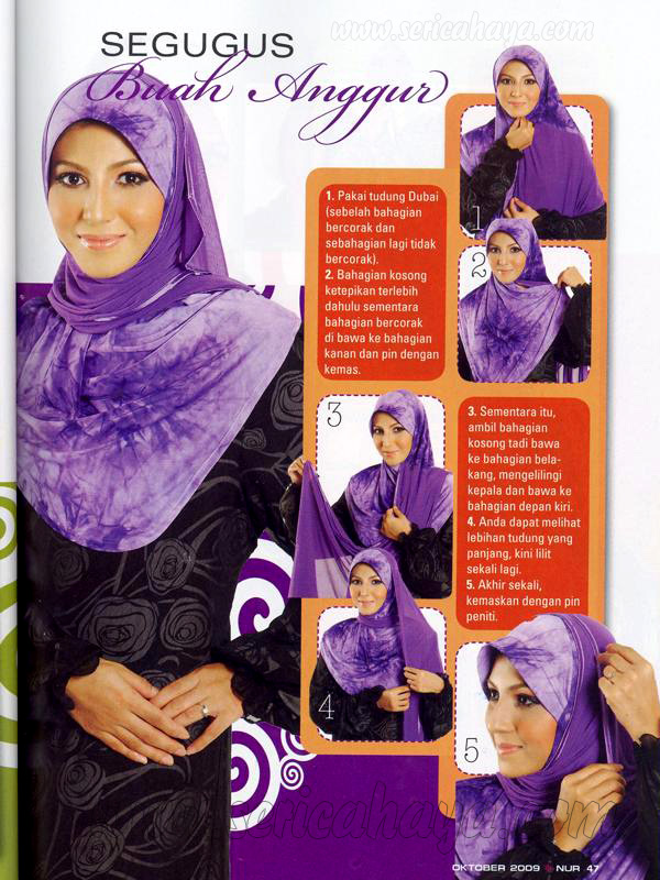 Cara-cara pemakaian Tudung Dubai dalam segmen Santun Anggun Majalah